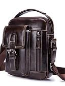 cheap Women's Down & Parkas-Men's Bags Leather Shoulder Bag Zipper Coffee / Brown