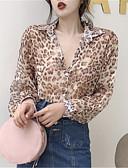 זול חולצה-מנוקד צווארון חולצה חולצה - בגדי ריקוד נשים