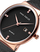 cheap Sport Watches-MINI FOCUS Men's Wrist Watch Calendar / date / day / Casual Watch Stainless Steel Band Luxury / Minimalist Black / Blue / Gold