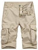 זול מכנסיים ושורטים לגברים-בגדי ריקוד גברים Military / סגנון רחוב שורטים / מכנסי טרנינג מכנסיים אחיד