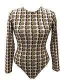 cheap Bodysuit-Women's Basic Bodysuit - Polka Dot / Geometric Print