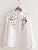 baratos Camisas Femininas-Mulheres Camisa Social Básico Floral Colarinho de Camisa