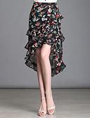olcso Női szoknyák-Női Extra méret Sellő fazon Alkalmi Aszimmetrikus Szoknyák - Virágos