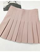 זול חצאיות לנשים-אחיד - חצאיות יומי / ליציאה גזרת A בגדי ריקוד נשים מותניים גבוהים
