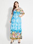 povoljno Ženske haljine-Žene Veći konfekcijski brojevi Swing kroj Haljina Cvjetni print Maxi Visoki struk