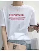 tanie T-shirt-t-shirt damski - okrągły dekolt