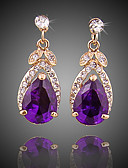 cheap Evening Dresses-Women's Crystal Drop Earrings - Gold Plated Simple, Fashion Purple For Party / Evening / Office & Career