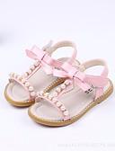 baratos Biquínis e Roupas de Banho Femininas-Para Meninas Sapatos Couro Ecológico Verão Conforto / Sapatos para Daminhas de Honra Sandálias para Branco / Verde / Rosa claro