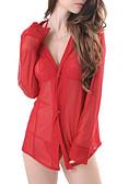 abordables Batas y ropa de dormir-Mujer Súper Sexy Traje Ropa de dormir - Malla Un Color / Con Tirantes / Escote en V Profunda