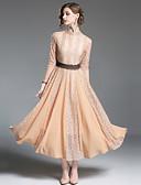 זול שמלות נשף-עומד מותניים גבוהים מידי תחרה / חלול חיצוני / רשת, אחיד / פרחוני / גיאומטרי - שמלה נדן רזה כותנה מתוחכם בגדי ריקוד נשים