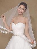 """זול הינומות חתונה-שכבה אחת מסוגנן / רומנטי הינומות חתונה צעיפי אצבע עם סגנון מוטיב פרחוני מפוזר ביד 47.24 אינץ' (120 ס""""מ) טול / הינונמה נופלת"""