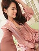 preiswerte Bauchtanzkleidung-Damen V-Ausschnitt Anzüge Satin & Seide Pyjamas Solide