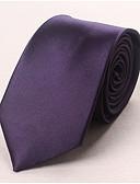 baratos Gravatas e Gravatas Borboleta-Homens Trabalho Seda, Gravata - Básico Sólido