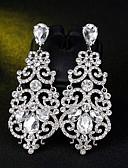olcso Menyasszonyi ruhák-Női Függők - Virág Egyszerű, Európai, Divat Ezüst Kompatibilitás Esküvő Napi