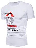 povoljno Muške majice i potkošulje-Majica s rukavima Muškarci - Osnovni Dnevno Slovo