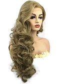 cheap Evening Dresses-Synthetic Lace Front Wig Curly Golden Middle Part Synthetic Hair Fluffy Golden Wig Women's Long Lace Front Honey Blonde StrongBeauty / Yes