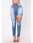 ieftine Pantaloni de Damă-Pentru femei De Bază Șic Stradă Blugi Pantaloni Mată