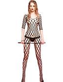 voordelige Sexy lichamen-Dames Kostuum Nachtkleding - Jacquard, Netstof