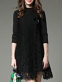 ieftine Rochii de Damă-Pentru femei Vintage Mărime Plus Size Bumbac Pantaloni - Mată Plisată Negru / Mâneci Bufante