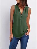 preiswerte Damen Kleider-Damen Solide - Grundlegend Ausgehen Bluse, V-Ausschnitt