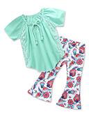 povoljno Kompletići za djevojčice-Dijete koje je tek prohodalo Djevojčice Jednobojni / Print Kratkih rukava Komplet odjeće