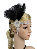 cheap Evening Dresses-The Great Gatsby Vintage / 1920s Costume Women's Flapper Headband Headwear Black / White Vintage Cosplay Feather Sleeveless Halloween Costumes