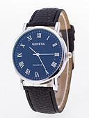 cheap Quartz Watches-Men's Women's Wrist Watch Quartz Casual Watch PU Band Analog Fashion Black - White Blue