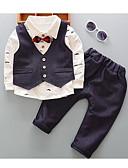 ieftine Seturi Îmbrăcăminte Băieți-Copil Băieți Activ / Șic Stradă Mată Manșon Lung Poliester Set Îmbrăcăminte Verde Deschis