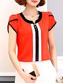cheap Women's Blouses-Women's Basic Blouse - Color Block Patchwork