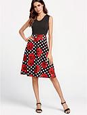 זול שמלות נשים-גיזרה גבוהה פרחוני - שמלה נדן סווינג בגדי ריקוד נשים