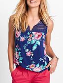 ieftine Bluze & Camisole Femei-Pentru femei În V Tank Tops Mată / Floral