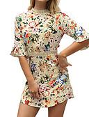 ieftine Print Dresses-Pentru femei Simplu Boho Teacă Rochie - Imprimeu, Geometric Sub Genunchi
