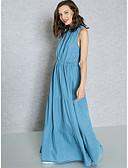 ieftine Quartz-Pentru femei Șic Stradă / Sofisticat Zvelt Pantaloni - Mată Talie Înaltă Albastru piscină / Petrecere / Maxi / Cu Bretele / De Pe Umăr / Muncă