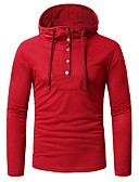 cheap Men's Belt-Men's Basic Hoodie - Solid Colored Red XL