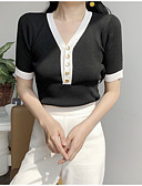 ieftine Bluză-Pentru femei Tricou Vintage - Mată Plisată Negru & Roșu