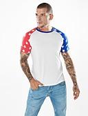 povoljno Muške majice i potkošulje-Majica s rukavima Muškarci - Vintage / Aktivan Dnevno / Vikend Geometrijski oblici Kolaž