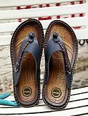 ieftine Tricou Bărbați-Bărbați Pantofi de confort Piele Vară Papuci & Flip-flops Portocaliu / Albastru Închis / Maro Închis