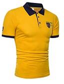 povoljno Muške polo majice-Polo Muškarci - Osnovni Sport / Vikend Pamuk Color block Kragna košulje Vezeno Obala XL / Kratkih rukava