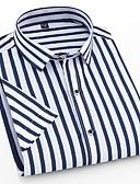 זול חולצות לגברים-גיאומטרי בסיסי חולצה - בגדי ריקוד גברים