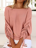cheap Women's Sweaters-Women's Vintage Street chic Long Sleeves Batwing Sleeve Wool Loose Pullover - Solid Colored Off Shoulder