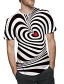 お買い得  メンズ下着&ソックス-男性用 プリント Tシャツ ベーシック ラウンドネック ストライプ / お客様の通常サイズよりワンサイズ上のものを選択して下さい. / 半袖
