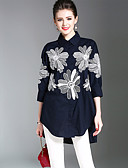 cheap Women's Tops-SHIHUATANG Women's Street chic Shirt - Floral Embroidered