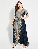 preiswerte Damen Kleider-Damen Street Schick Boho Swing Kleid Geometrisch Maxi