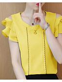 رخيصةأون قمصان نسائية-للمرأة تيشرت أساسي سادة