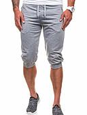 abordables Pantalones y Shorts de Hombre-Hombre Activo / Básico Shorts / Pantalones de Deporte Pantalones - Un Color