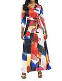 tanie Sukienki-Damskie Boho Bawełna Szczupła Spodnie - Geometric Shape Czarny / W serek / Święto / Wyjściowe