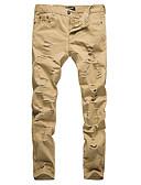 tanie Męskie spodnie i szorty-Męskie Prosty Typu Chino Spodnie - Otwór, Solidne kolory