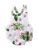 abordables Une-pièce pour Bébé-bébé Fille Actif Imprimé Sans Manches Coton / Polyester Une-Pièce Blanc