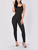 cheap Women's Jumpsuits & Rompers-women's cotton jumpsuit - solid colored high waist pencil strap