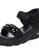 cheap Women's Scarves-Women's Shoes Tulle Summer Comfort Sandals Creepers Black / Green